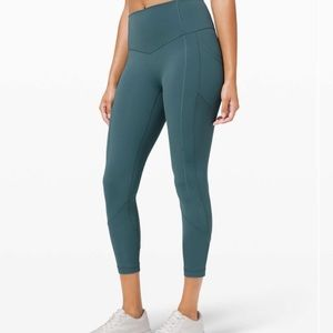 Lululemon All The Right Places Crop II Desert Teal